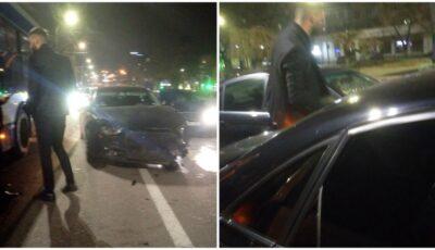 Accident în capitală: un vitezoman s-a izbit violent într-un troleibuz și câteva mașini