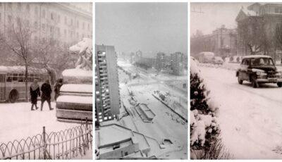 Foto. Iarna în Chișinău, acum 50 de ani. O colecție de poze rare publicate de Agenția Națională a Arhivelor