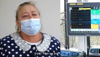 """O femeie din Florești, în lacrimi după ce a învins Coronavirusul: ,,Cel mai complicat a fost când am aflat că plămânii erau foarte afectați"""""""