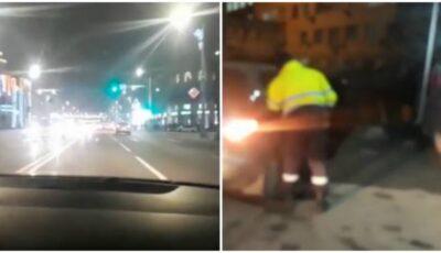 Un șofer a făcut infarct cerebral, în timp ce deplasa pe o stradă aglomerată din centrul Capitalei