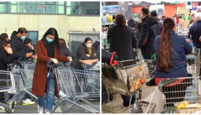 Cozi imense. Moldovenii se pregătesc de sărbători și au dat busna în magazine