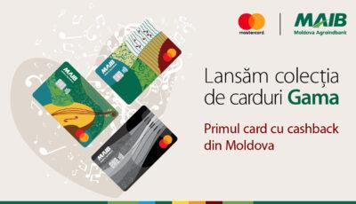Primul card cashback în Moldova: Moldova Agroindbank și Mastercard au lansat o serie unică de carduri de plată GAMA