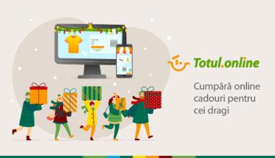 Cumpără cadouri de Crăciun, fără a ieși din casă, pe Totul.online