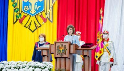 Discursul inaugural al Președintelui Republicii Moldova, Maia Sandu, publicat pe site-ul Președinției