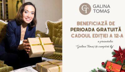 """Află cum poți beneficia de o lună gratuită în ediția a 12-a a proiectului ,,Galina Tomaș îți cumpără kg""""!"""