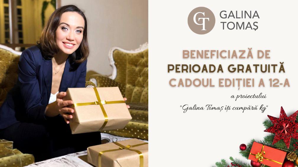 """Foto: Află cum poți beneficia de o lună gratuită în ediția a 12-a a proiectului ,,Galina Tomaș îți cumpără kg""""!"""