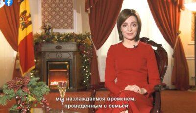 Mesajul de Revelion al Președintei Republicii Moldova, Maia Sandu