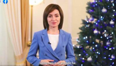 Maia Sandu, mesaj de felicitare pentru cetățenii care sărbătoresc Crăciunul pe stil nou