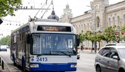 Rutele de troleibuze din Capitală în care vor apărea primele taxatoare electronice, începând din luna martie