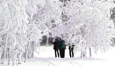 Zăpadă multă într-o localitate din Moldova. Foto!