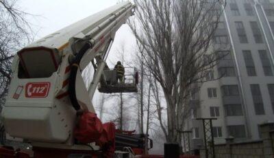 Incendiu izbucnit într-un bloc nou din Capitală