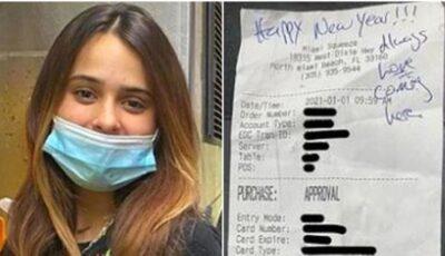 Bacșișul generos obținut de o tânără care este chelneriță la restaurantul deținut de familia ei