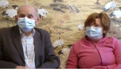 Un bătrân de 105 ani din Cluj s-a vaccinat contra Covid-19
