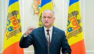 Informații oficiale: Ce salariu a ridicat Igor Dodon în ultimul an de mandat