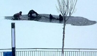 Copil scos din apele înghețate ale unui lac. Un salvator și-a pierdut viața
