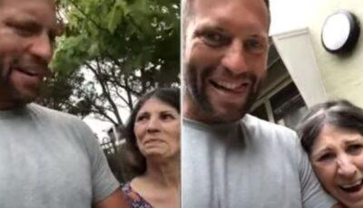 Momentul emoționant în care o mamă care suferă de demență își recunoaște fiul