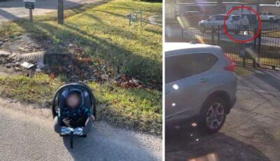 Bebeluș abandonat într-un scaun de mașină, la marginea drumului. Șoferul care l-a salvat a izbucnit în lacrimi. Cum s-a întâmplat nenorocirea?