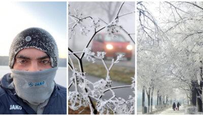 Ger resimțit ca -22 grade celsius! Moldovenii și-au împărtășit impresiile despre cea mai geroasă dimineață din acest an