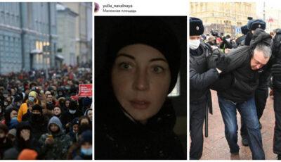 Rusia: Proteste masive în toată țara față de arestarea lui Aleksei Navalnîi. Peste 2.300 de persoane ar fi reținute, 40 de polițiști răniți