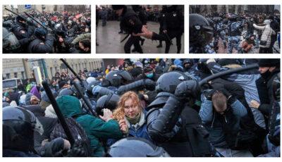 Video dureros. Protestatari, bătuți dur de poliția din Rusia