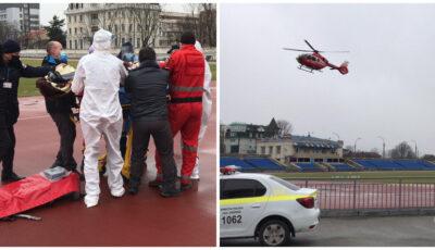 Medicii din Iași au transportat o femeie în stare gravă de la Fălești la Chișinău