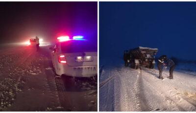 INSP: Atenție, șoferi! În nordul și în sudul țării se circulă în condiții de iarnă