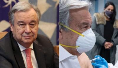 Secretarul general al ONU s-a vaccinat împotriva Covid-19
