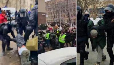 Noi proteste anti-Putin în Rusia: Peste 2.000 de oameni, reținuți