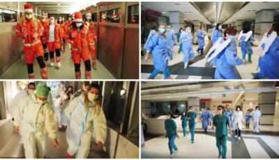 Gest inedit de încurajare în lupta cu pandemia! Medicii dansează pe ritmurile melodiei Jerusalema