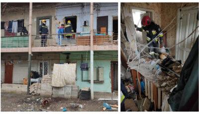 Explozie într-un bloc de locuit din centrul Capitalei