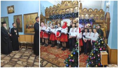 Un grup de copii și preoți din Ungheni l-au colindat pe Mitropolitul Basarabiei