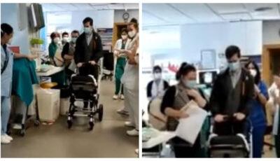 Bebeluș vindecat de Covid după 70 de zile, externat cu aplauze