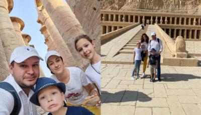 Ion Ceban, împreună cu familia într-o vacanță în Egipt