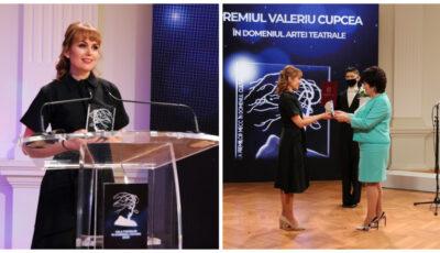 """Actrița Diana Decuseară-Onică, laureată a Premiului """"Valeriu Cupcea"""" în domeniul artei teatrale!"""