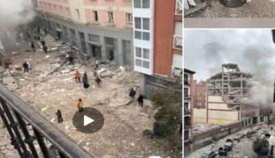 Ultima oră! Explozie puternică în centrul orașului Madrid