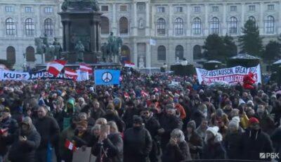 Proteste la Viena! Oamenii au obosit de pandemie și restricții