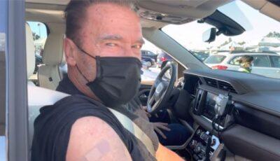 """,,Vino cu mine, dacă vrei să trăieşti"""". Arnold Schwarzenegger s-a vaccinat și a făcut public momentul"""