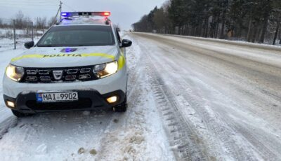 Atenție șoferi! Drumurile din țară sunt acoperite de gheață