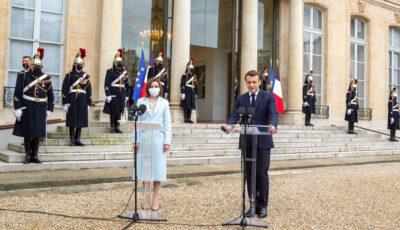 Declarațiile lui Emmanuel Macron după întrevederea cu Maia Sandu la Paris