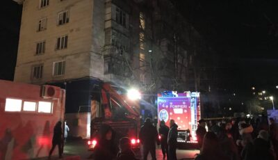 Explozie puternică într-un bloc din Chișinău