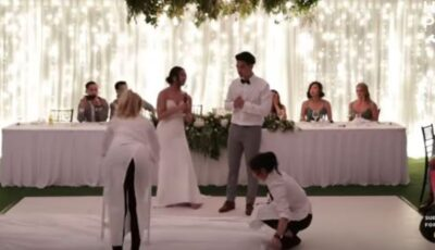 Mirele și mireasa s-au ras în cap la propria nuntă