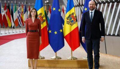 Maia Sandu va avea o întâlnire la Chișinău cu Președintele Consiliului European, Charles Michel