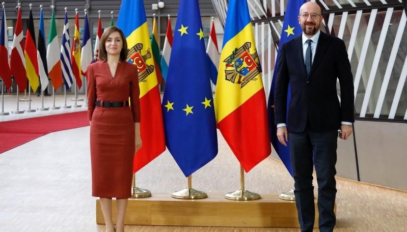 Foto: Maia Sandu va avea o întâlnire la Chișinău cu Președintele Consiliului European, Charles Michel