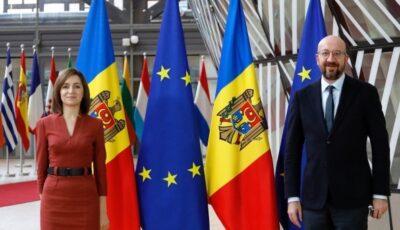 Moldova va primi donația de 15 milioane de euro de la Uniunea Europeană, pentru ajutor în depășirea crizei sanitare și economice