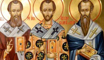 Creștinii ortodocși de rit vechi îi prăznuiesc astăzi pe Sfinții Trei Ierarhi