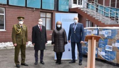 """Spitalul Municipal de Copii ,,Valentin Ignatenco"""" a primit 25.000 de combinezoane de la NATO"""