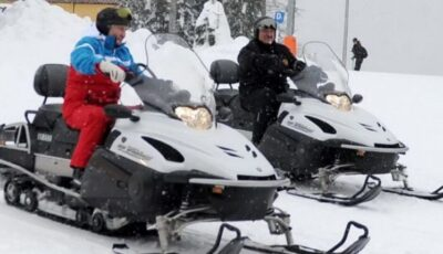 Vladimir Putin și Alexander Lukașenko s-au distrat împreună pe pârtia de ski de la Soci