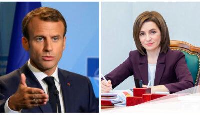 Maia Sandu va avea o întrevedere cu Emmanuel Macron, la Paris