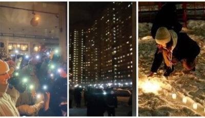 Susținătorii lui Aleksei Navalnîi au protestat cu lanterne de Ziua Îndrăgostiților