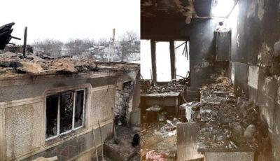 O familie cu 3 copii mici a rămas pe drumuri în plină iarnă, după ce casa le-a fost mistuită de flăcări. Orice ajutor pentru ei este binevenit!